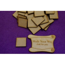 MDF Square 2cm/20mm x 3mm - Laser cut wooden shape