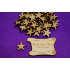 MDF Star 2cm/20mm x 3mm - Laser cut wooden shape