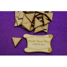 MDF Triangle 2cm/20mm x 3mm - Laser cut wooden shape