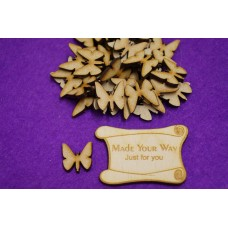 MDF Butterflies 2cm/20mm x 3mm - Laser cut wooden shape