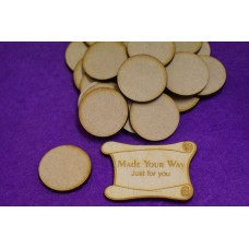 MDF Circle Round 3cm/30mm x 3mm - Laser cut wooden shape