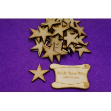 MDF Star 3cm/30mm x 3mm - Laser cut wooden shape