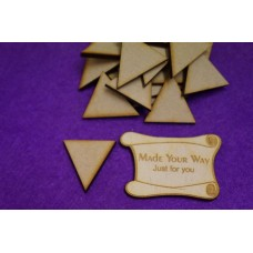 MDF Triangle 3cm/30mm x 3mm - Laser cut wooden shape