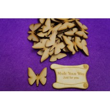 MDF Butterflies 3cm/30mm x 3mm - Laser cut wooden shape