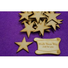 MDF Star 4cm/40mm x 3mm - Laser cut wooden shape