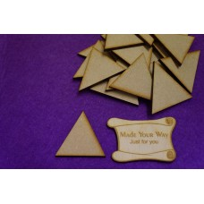 MDF Triangle 4cm/40mm x 3mm - Laser cut wooden shape