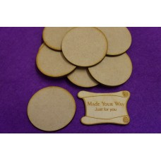 MDF Circle Round 5cm/50mm x 3mm - Laser cut wooden shape