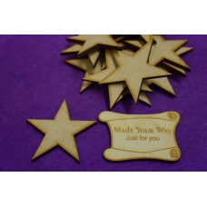 MDF Star 5cm/50mm x 3mm - Laser cut wooden shape