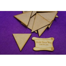 MDF Triangle 5cm/50mm x 3mm - Laser cut wooden shape
