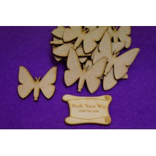 MDF Butterflies 5cm/50mm x 3mm - Laser cut wooden shape