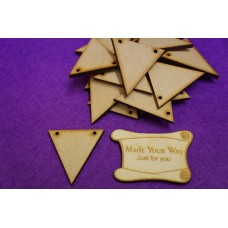 MDF Triangle Bunting two holes 4cm/40mm x 3mm -  Laser cut wooden shape