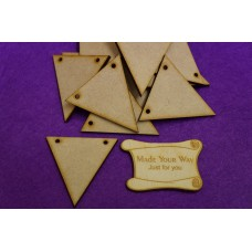 MDF Triangle Bunting two holes 5cm/50mm x 3mm - Laser cut wooden shape