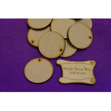 MDF Circle Round one hole 4cm/40mm x 3mm - Laser cut wooden shape