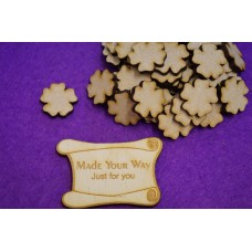 MDF Flower A 2cm/20mm x 3mm - Laser cut wooden shape