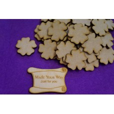 MDF Flower A 3cm/30mm x 3mm - Laser cut wooden shape