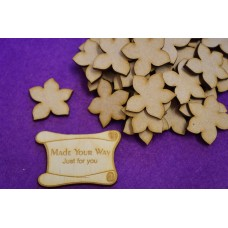 MDF Flower B 3cm/30mm x 3mm - Laser cut wooden shape