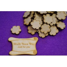 MDF Flower C 2cm/20mm x 3mm - Laser cut wooden shape