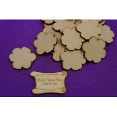 MDF Flower C 4cm/40mm x 3mm - Laser cut wooden shape