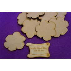 MDF Flower C 5cm/50mm x 3mm - Laser cut wooden shape