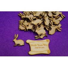MDF Bunny Rabbit 3cm/30mm x 3mm - Laser cut wooden shape