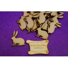 MDF Bunny Rabbit 4cm/40mm x 3mm - Laser cut wooden shape