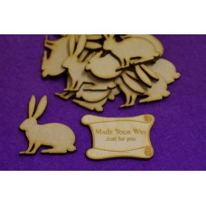 MDF Bunny Rabbit 5cm/50mm x 3mm - Laser cut wooden shape