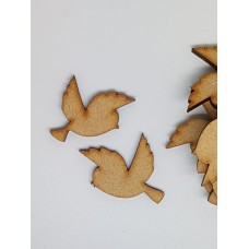 MDF Bird Pair A 3cm/30mm x 3mm - Laser cut wooden shape