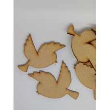 MDF Bird Pair A 5cm/50mm x 3mm - Laser cut wooden shape