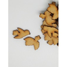 MDF Bird Pair B 2cm/20mm x 3mm - Laser cut wooden shape