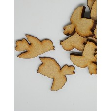 MDF Bird Pair B 3cm/30mm x 3mm - Laser cut wooden shape