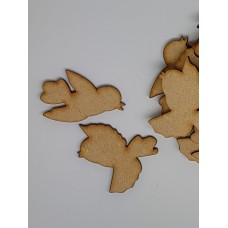 MDF Bird Pair B 4cm/40mm x 3mm - Laser cut wooden shape