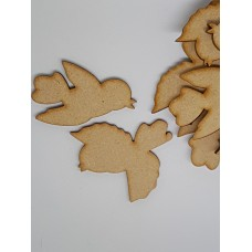 MDF Bird Pair B 5cm/50mm x 3mm - Laser cut wooden shape
