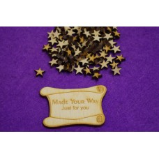 MDF Star 1cm/10mm x 3mm - Laser cut wooden shape