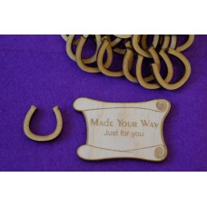 MDF Horseshoe 2cm/20mm x 3mm -  Laser cut wooden shape