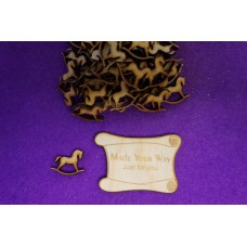 MDF Rocking Horse A 2cm/20mm x 3mm - Laser cut wooden shape