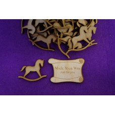 MDF Rocking Horse A 4cm/40mm x 3mm - Laser cut wooden shape