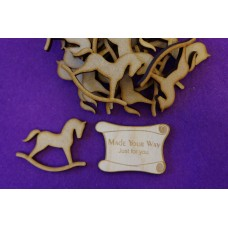 MDF Rocking Horse A 5cm/50mm x 3mm - Laser cut wooden shape
