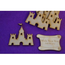 MDF Sand Castle 5cm/50mm x 3mm - 5 x Laser cut wooden shape