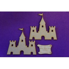 MDF Sand Castle 10cm/100mm x 3mm - 2 x Laser cut wooden shape