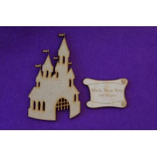 MDF Fairytale Castle A 10cm/100mm x 3mm - Laser cut wooden shape