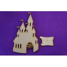 MDF Fairytale Castle A 15cm/150mm x 3mm - Laser cut wooden shape