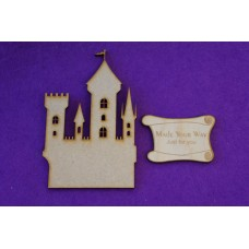 MDF Fairytale Castle D 10cm/100mm x 3mm - Laser cut wooden shape