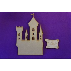 MDF Fairytale Castle D 15cm/150mm x 3mm - Laser cut wooden shape