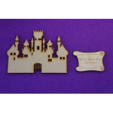MDF Fairytale Castle G 10cm/100mm x 3mm - Laser cut wooden shape