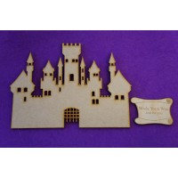 MDF Fairytale Castle G 15cm/150mm x 3mm - Laser cut wooden shape