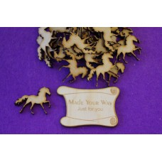 MDF Horse 3cm/30mm x 3mm - Laser cut wooden shape