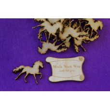 MDF Horse 4cm/40mm x 3mm - Laser cut wooden shape