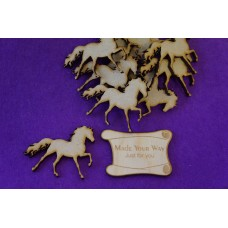 MDF Horse 5cm/50mm x 3mm - Laser cut wooden shape