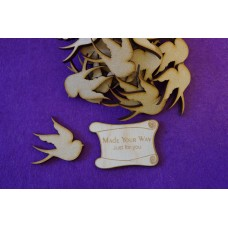 MDF Bird A 4cm/40mm x 3mm - Laser cut wooden shape