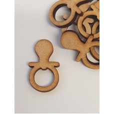 MDF Baby Dummy 3cm/30mm x 3mm - Laser cut wooden shape